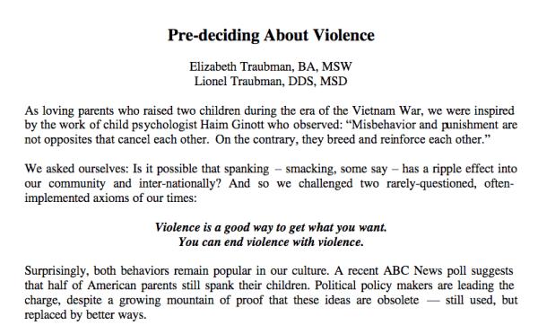 Pre-deciding About Violence