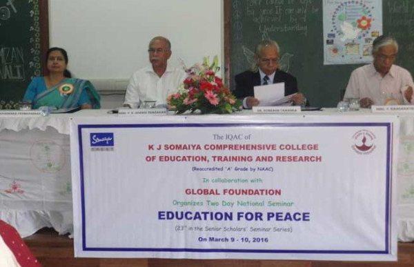 Education for Peace Seminar at Somaiya (India)