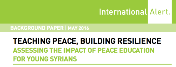 Teaching peace, building resilience: Assessing the impact of peace education for young Syrians