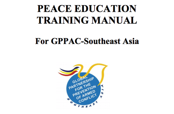 Peace Education Training Manual for GPPAC Southeast Asia