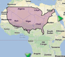 USA over N Africa