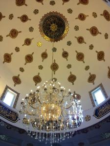The ceiling of the mosque in Abu Ghosh, Israel.