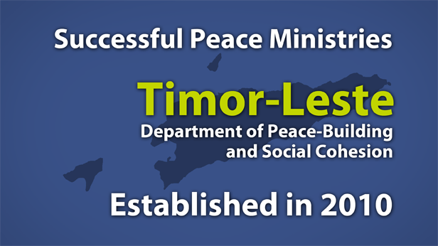 Timor-Leste Department of Peace-Building and Social Cohesion