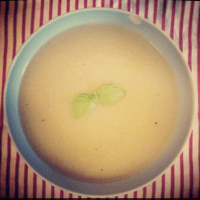 With or without cheese, this soup is tasty! (photo by Ashley)