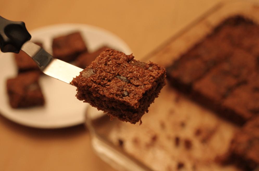 Stem ginger chocolate flapjacks