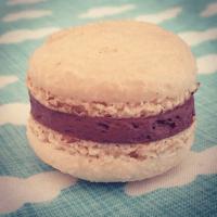 Chocolate and vanilla macaron