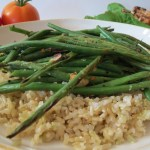 Grilled  Haricot Vert French Green Beans with Slivered Almonds