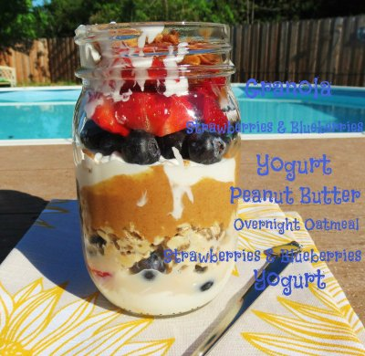 PB and P Breakfast Jar Parfait