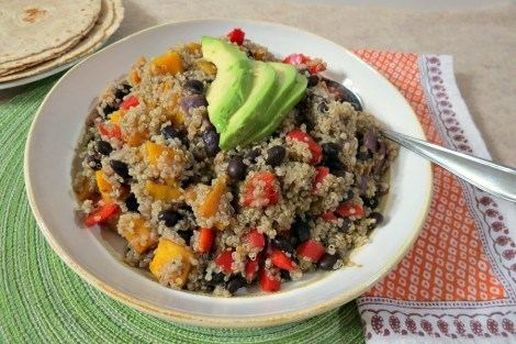 Black Bean and Butternut Squash Quinoa Tacos