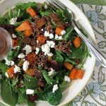 Roasted Butternut and Quinoa Salad with Honey Balsamic Dressing