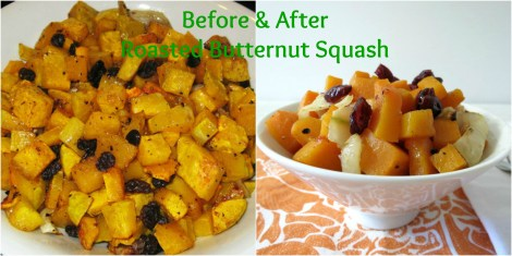 Before and After Butternut Squash
