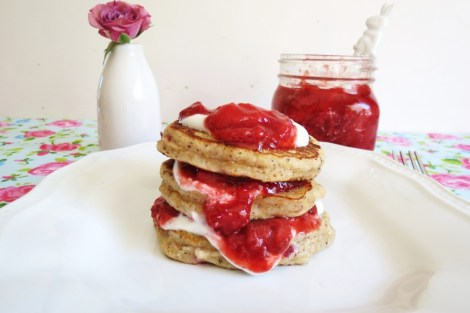 Strawberry Coconut Pancakes