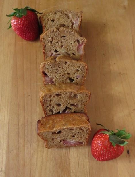 Peanut Butter Banana Strawberry Bread