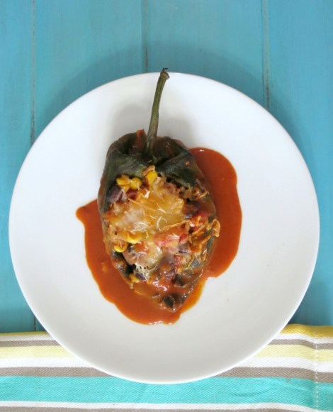 Spicy Stuffed Mexican Peppers