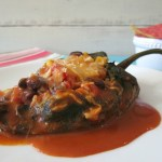 Spicy Stuffed Mexican Peppers #SundaySupper