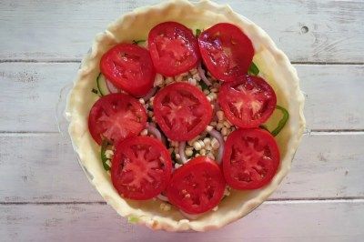 Summer Time Vegetable Pizza Pie