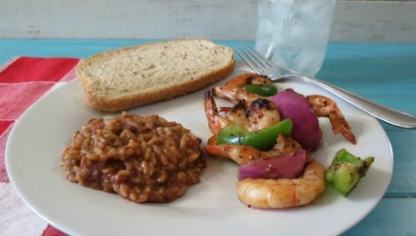 Cajun Grilled Shrimp with Red Beans and Rice