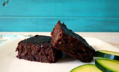 Chocolate Zucchini Beanie Brownie #HolidayDetox