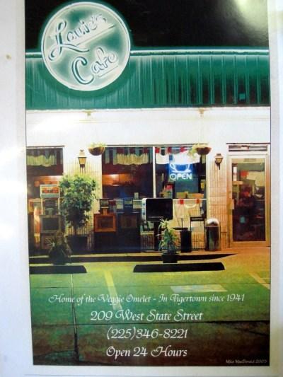 Louie's Cafe Menu Cover