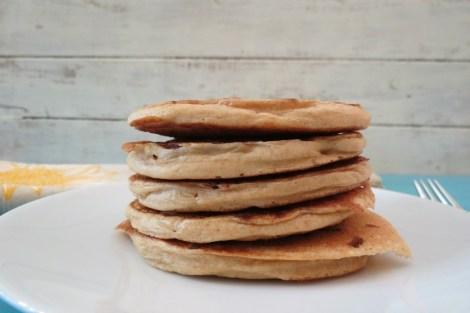 Maple Bacon Whole Wheat Pancakes