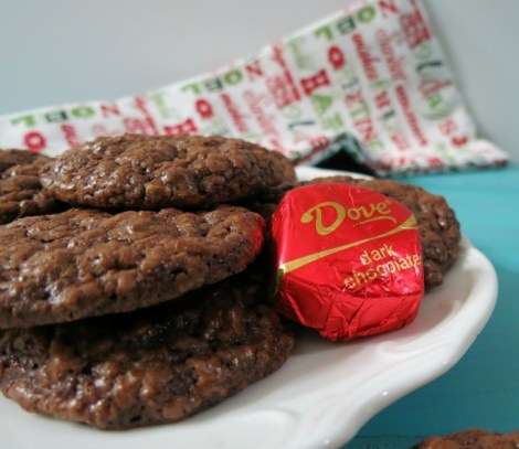 Christmas Chocolate Drops #DoveDark