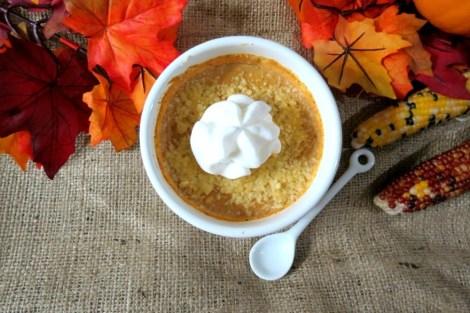 Mascarpone Pumpkin Cheesecake in the Microwave