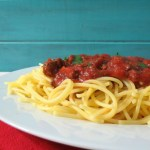 Slow Cooker Pasta Meat Sauce #CleanPlate