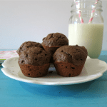 Triple Chocolate Mini Muffins