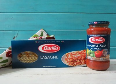 Barilla Lasagna Noodles and Tomato Basil Pasta Sauce