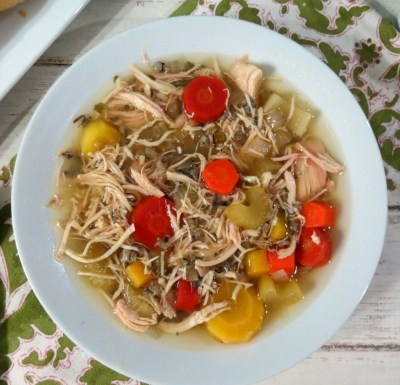 Chicken and Wild Rice Soup (Crockpot)