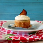 Cinnamon Cupcakes with Maple Frosting and Bacon