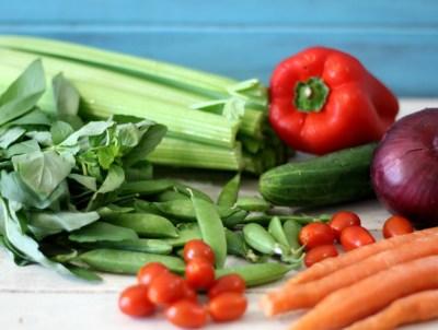 Marinated Garden Salad Ingredients