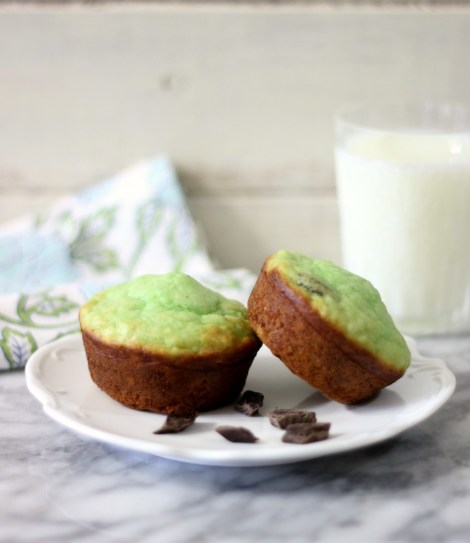 Mint Chocolate Chip Muffins