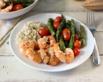 Shrimp with Asparagus and Tomatoes #shrimpshowdown