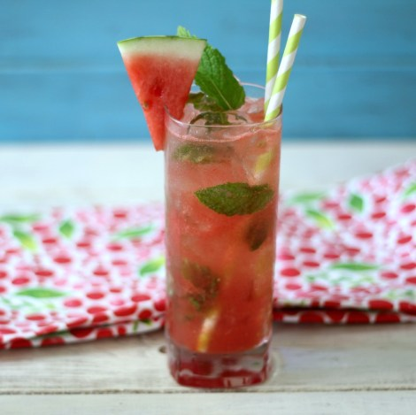 Skinny Watermelon Mojito #SundaySupper