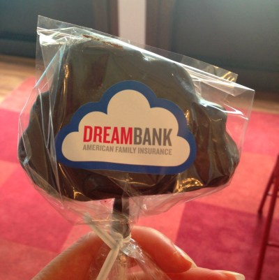 Dream Bank chocolate covered marshmallows
