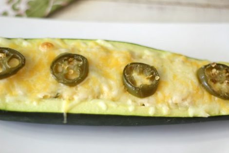 Jalapeno and Chicken Stuffed Zucchini