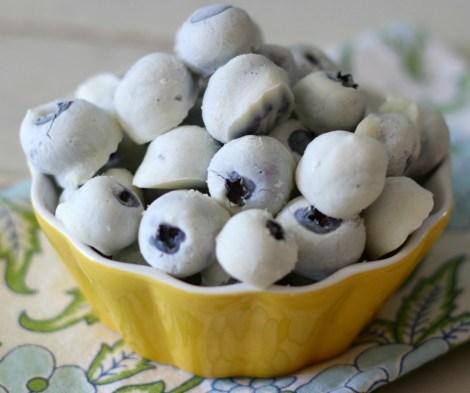 Frozen Yogurt Covered Blueberries #SundaySupper