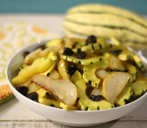 Sweet and Savory Roasted Delicata Squash and Pear #SundaySupper