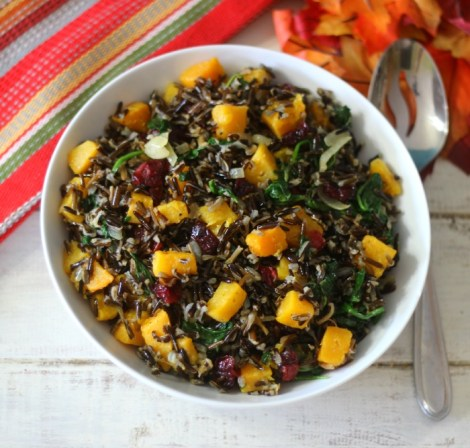 Butternut Squash Wild Rice #Holidaytable