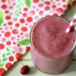 Strawberry Cranberry Smoothie (Dairy Free) #SilkCashew @LoveMySilk