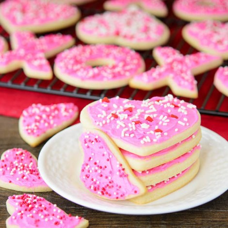 Frosted Cream Cheese Cutout Cookies