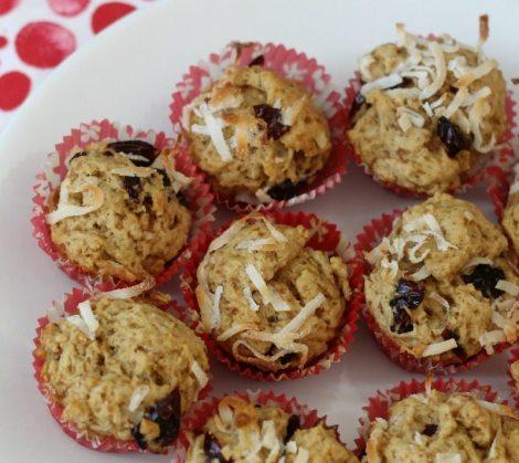 Cranberry Coconut Mini Scuffins