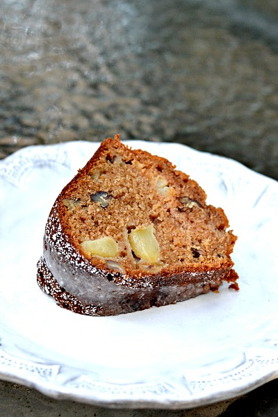 Apple Spice Cake Slice