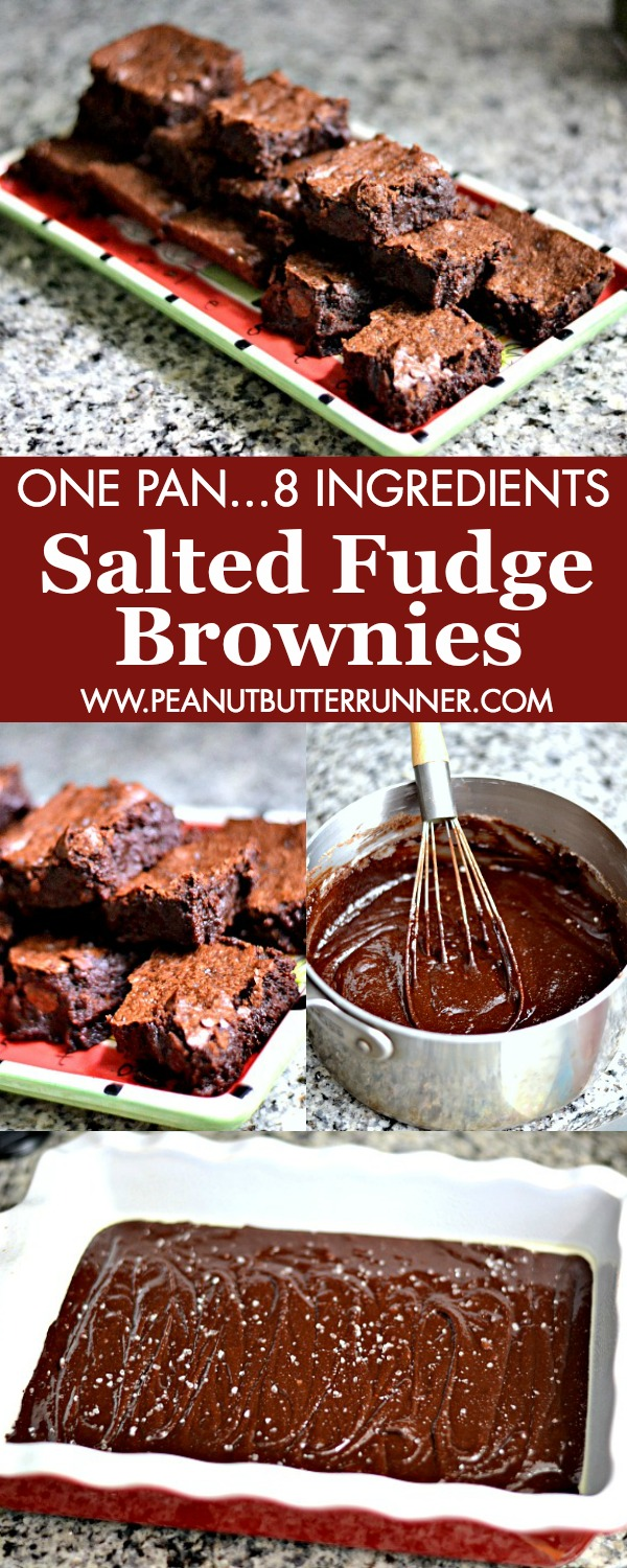 Salted Fudge Brownies (The Best Brownie Recipe Ever!) - Peanut Butter ...