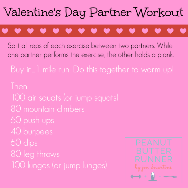 Peanut Butter Runner Valentine's Day Workout