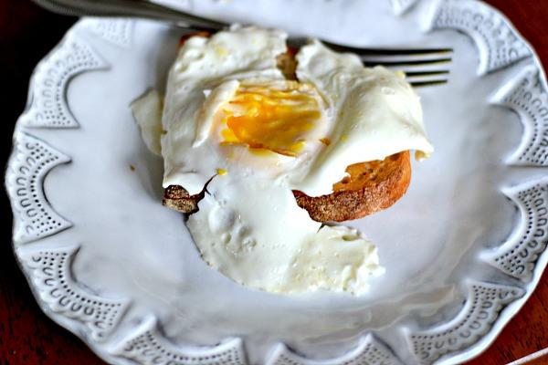 egg and sourdough