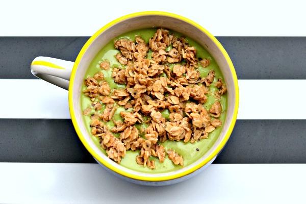 fig smoothie peanut butter granola