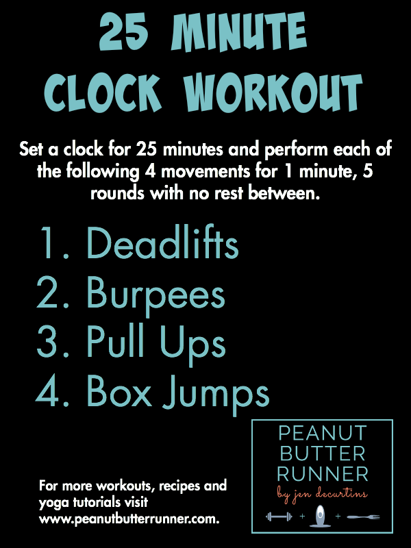 25 minute clock workout