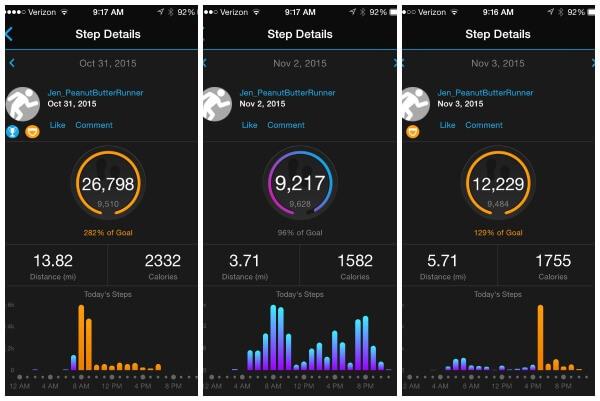 Garmin Step Tracker
